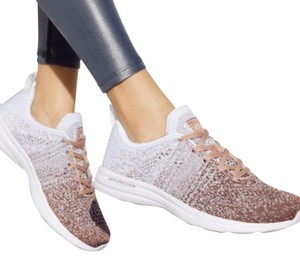 Athletic Propulsion Labs Apltechloom White and Rose Gold Athletic