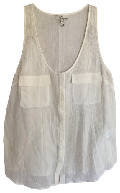 Item - Off White Crinkle Cotton Tank Top/Cami Size 2 (XS)