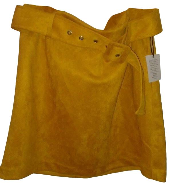 Item - Yellow Faux Suede Skirt Size 12 (L, 32, 33)