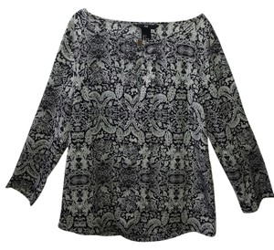 H&M Top Black & white print