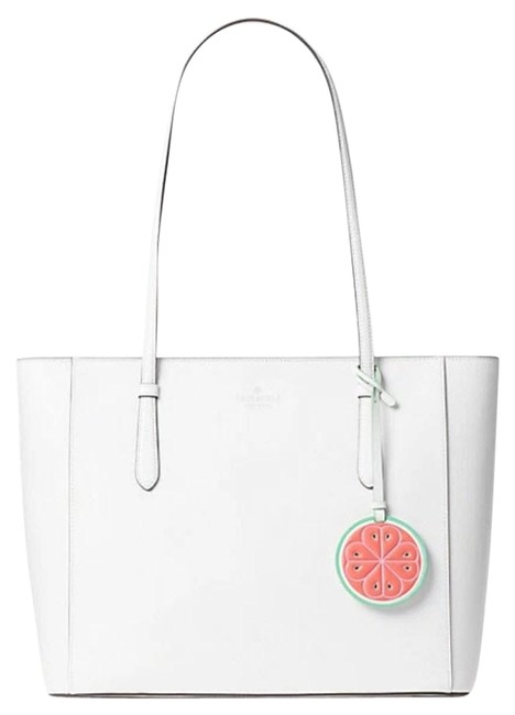 Item - Loli Large Top Zip White Lambskin Leather Tote