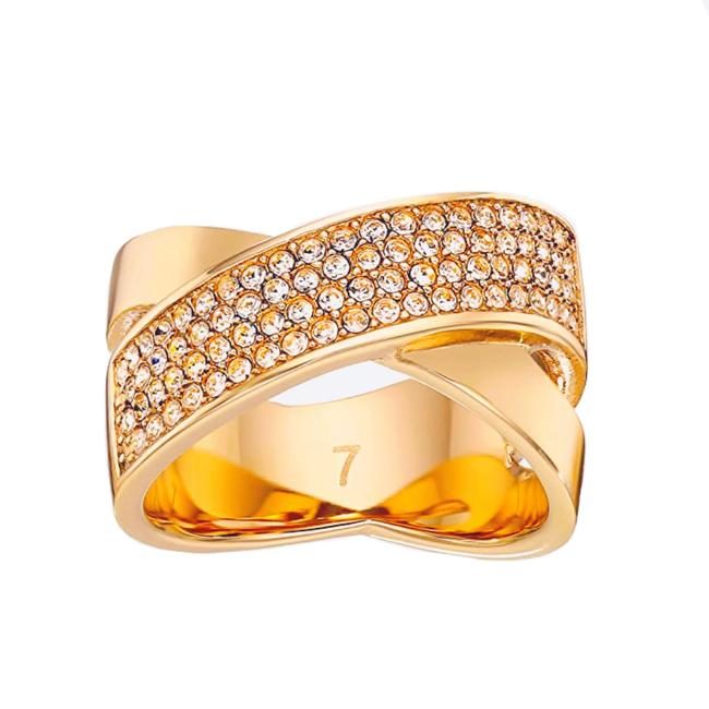 Michael Kors Gold • Brilliance Crossover Ring Michael Kors Gold • Brilliance Crossover Ring Image 1