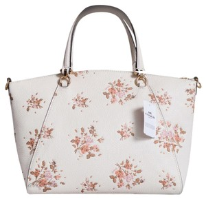 Coach Prairie Floral White Satchel in Chalk Rose Print