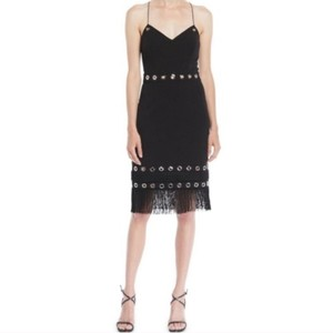 Aidan Mattox Fringe Hem Dress
