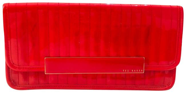Ted Baker Red Patent Leather Clutch Ted Baker Red Patent Leather Clutch Image 1