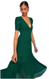 Green Maxi Dress by Reformation Cosa Midi Emerald