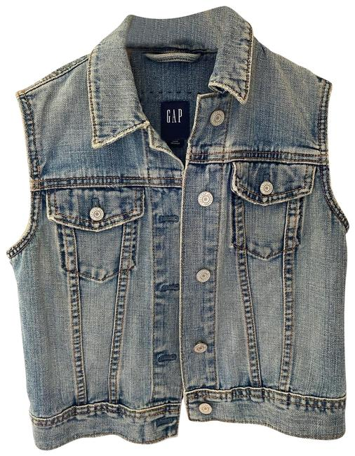 Item - Blue Denim (Crop) Vest Size 6 (S)