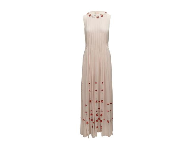 Item - Light Pink Edie Falco's Pleated Gown For The 2005 Emmy Awards Casual Maxi Dress Size 12 (L)