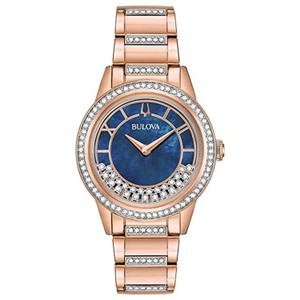Bulova Crystal TurnStyle Stainless Blue Mother Pearl Swarvoski 98L247