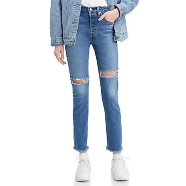 Preload https://img-static.tradesy.com/item/27348956/levi-s-blue-white-dark-rinse-501-distressed-button-fly-with-raw-hem-skinny-jeans-size-31-6-m-0-0-650-650.jpg