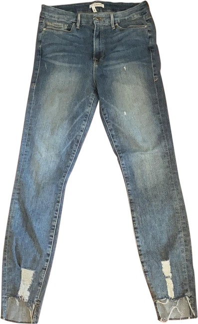 Item - Blue Distressed Skinny Jeans Size 10 (M, 31)