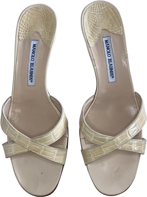 Item - Cream Callamu Sandals Size EU 39.5 (Approx. US 9.5) Regular (M, B)