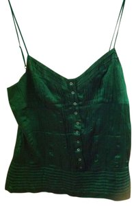 BCBG Max Azria Silk Top Emerald green