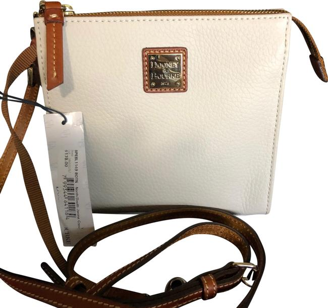 Item - North/South Janine White Leather Cross Body Bag