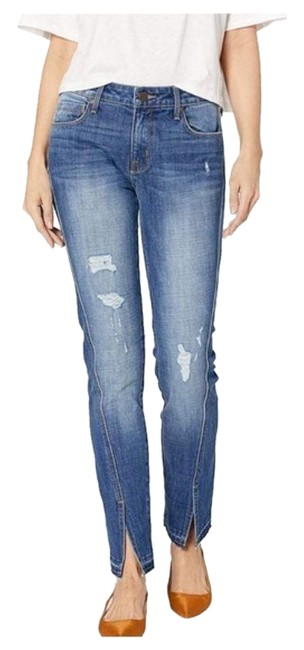 Item - Blue Distressed Twisted Straight Leg Jeans Size 26 (2, XS)