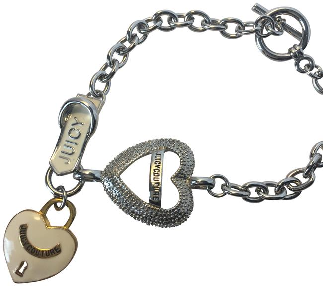Item - Silver Charm with Toggle Closure Bracelet