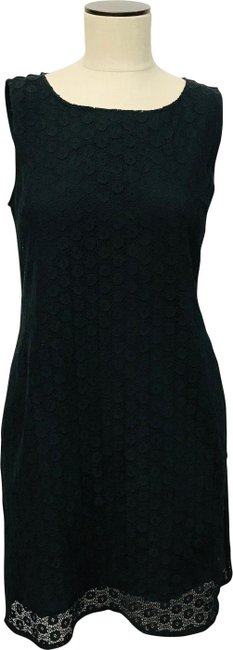 Item - Black Lace Overlay Shift Mid-length Short Casual Dress Size 8 (M)