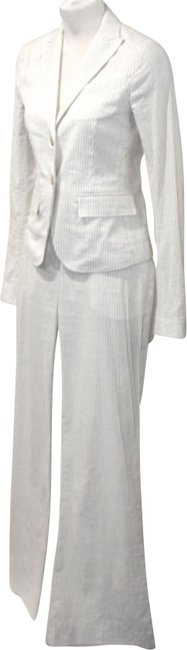 Item - Ivory & Taupe Tailored Small/4 Pant Suit Size 4 (S)