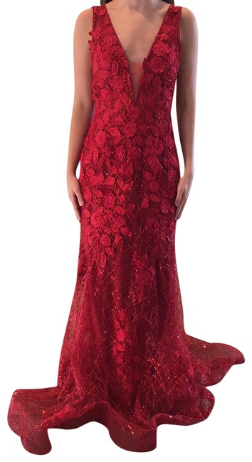 Item - Red 02152 Long Formal Dress Size 0 (XS)