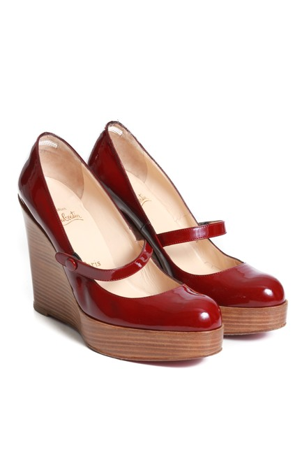 Item - Brick Patent Leather Maryjane Wooden Wedges Size EU 39 (Approx. US 9) Narrow (Aa, N)