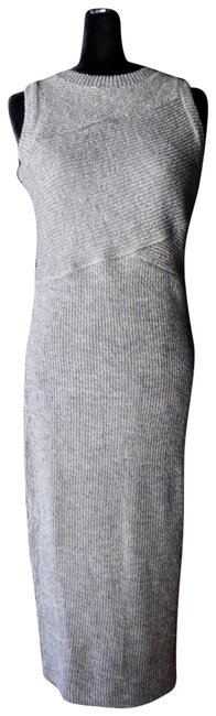Item - Grey Reese Ribbed Midi Nwot Mid-length Casual Maxi Dress Size 8 (M)