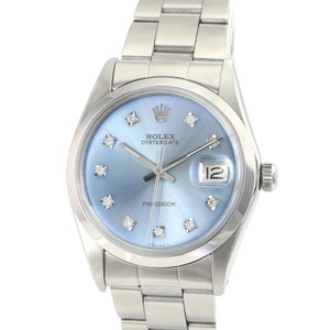 Rolex Rolex Oysterdate SS Ice Diamond Dial Smooth Bezel Oyster Band 34mm