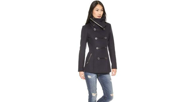 Item - Blue Milly Double Breasted Military Coat Size Petite 6 (S)