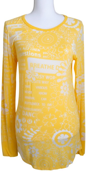Item - Yellow Activewear Top Size 10 (M)
