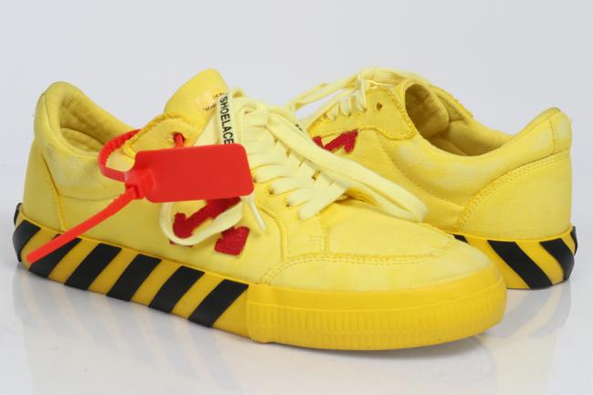 Item - Yellow Off-white Low Top Vulcanized Sneakers Shoes