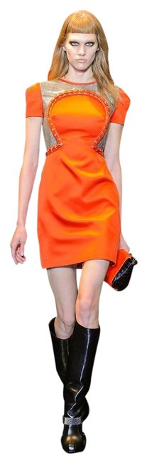 Item - Orange W F/W 2012 Look # 26 New Chain Mesh Panel Short Cocktail Dress Size 2 (XS)