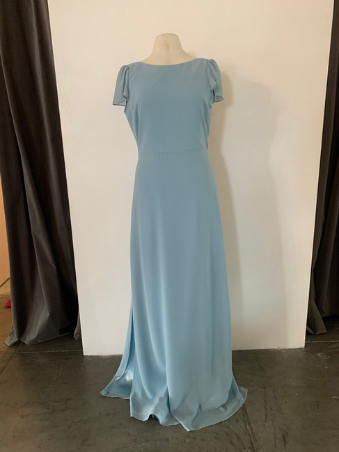 Item - Into The Mystic (Dusty Blue) Chiffon Kimberly Gown Casual Bridesmaid/Mob Dress Size 12 (L)