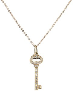 Tiffany & Co. Tiffany and Co 18kt Oval Diamond Key Necklace