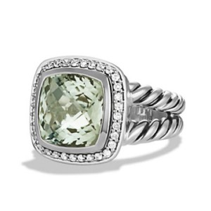 David Yurman David Yurman * Albion Prasiolite Diamond Ring 11mm