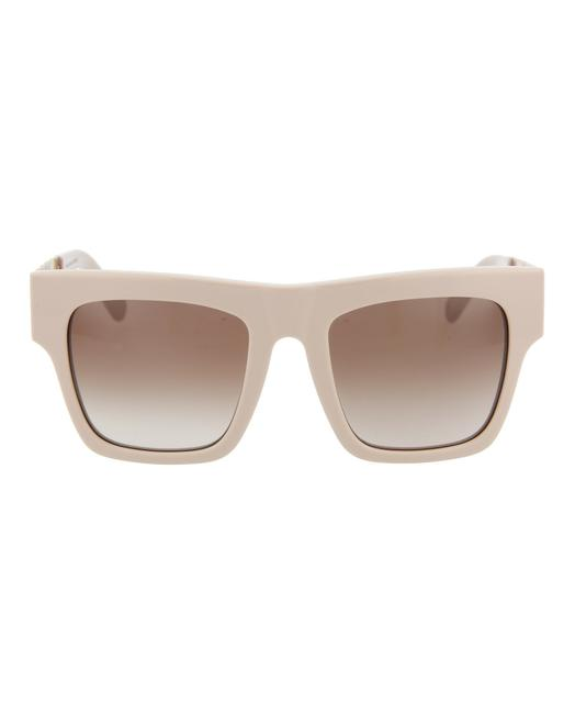 Item - Pink Gold Brown Square/Rectangle Sunglasses