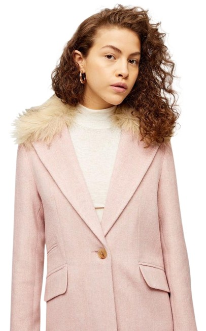 Item - Pink Light Herringbone with Faux Coat Size 6 (S)
