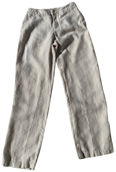 Eileen Fisher Bone Rn 78121 Pants Size 6 (S, 28) Eileen Fisher Bone Rn 78121 Pants Size 6 (S, 28) Image 1