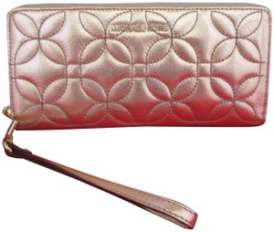 Michael Kors Quilted Floral Travel Continental Wallet, Wristlet