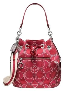 Coach New Poppy Bucket Metallic Cross Body Bag