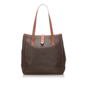 Celine Glj0eceto001 Vintage Leather Tote in Brown