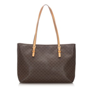 Celine Glj0eceto002 Vintage Leather Tote in Brown