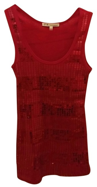 Other Sequin Top red