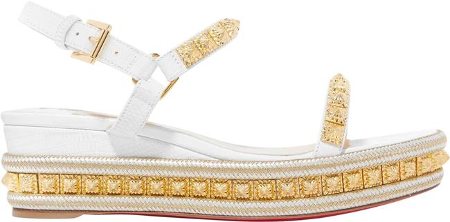 Item - White Pyraclou 60 Studded Sandal Wedges Size EU 38 (Approx. US 8) Regular (M, B)