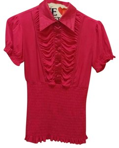 Other Ruffle Button Forever21 Top fushia