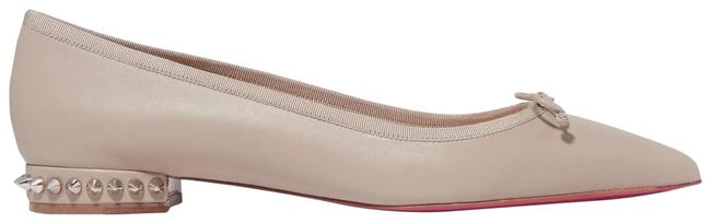 Item - Beige Hall Spiked Leather Point-toe Flats Size EU 41 (Approx. US 11) Regular (M, B)