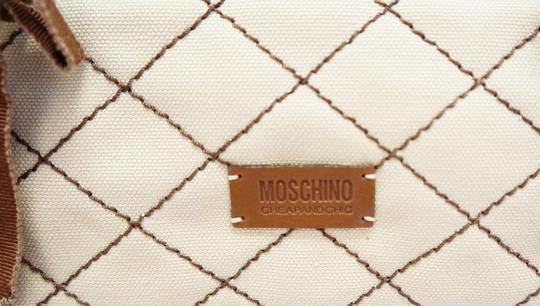 Moschino Cheap And Chic Canvas Stitched Chain Hand Small Shoulder Bag