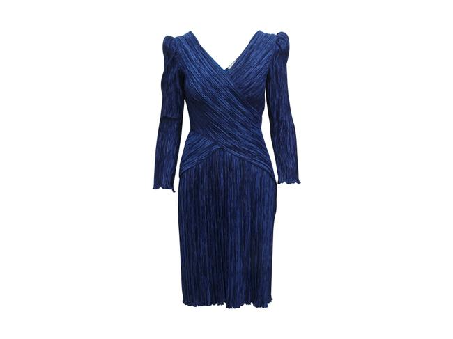 Item - Navy Blue Vintage Pleated Short Casual Dress Size 6 (S)