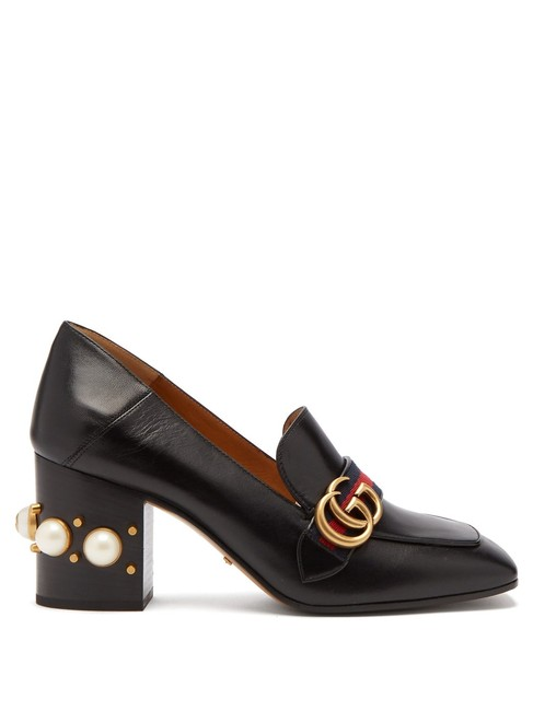 Item - Black Mf Peyton Pearl-embellished Leather Loafers Formal Shoes Size EU 39.5 (Approx. US 9.5) Regular (M, B)