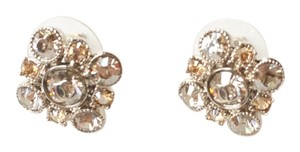 Chanel Authentic Chanel Argyle Rhinestone Crystal Piercing Earrings