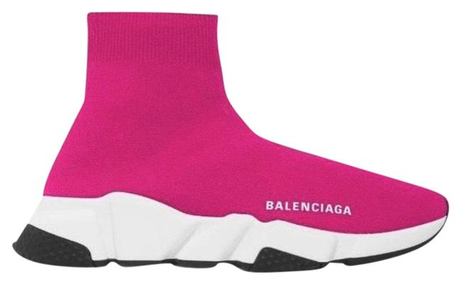 Item - Pink Speed Trainer Sock Sneakers Size EU 42 (Approx. US 12) Regular (M, B)