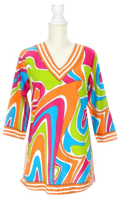 """Item - Bright Multicolor Pink """"Fever Dance"""" Tunic Size 2 (XS)"""